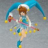 Zpzy Card Captor Kinomoto Sakura Costume Blue Clown Dress Up Anime Caractère Modèle PVC Figure Statue Anime Figure Modèle Otaku Collection Cadeaux / Ornements Les Fans d'anime et Les Enfants comme