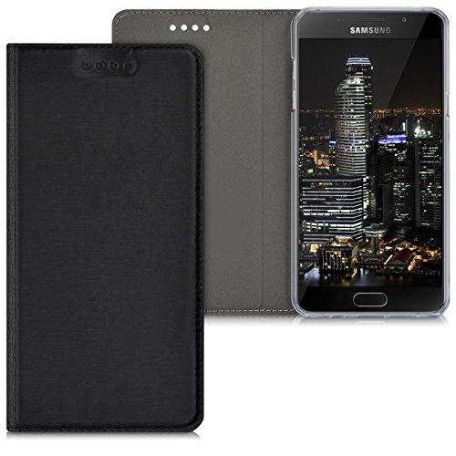 kwmobile Samsung Galaxy A5 (2016) Hülle - Handyhülle für Samsung Galaxy A5 (2016) - Schwarz - Handy Case Schutzhülle Klapphülle
