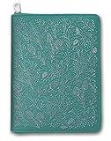 Orange Circle Studio 2020 Leatheresque Zip-Around Folio + Agenda Set, August 2019 - December 2020, Floral Vines Caribbean Blue