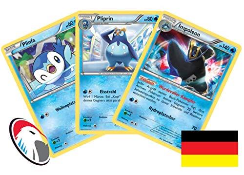 Plinfa, Pliprin & Impoleon Set 38/162 Pokémon Turbo Start Sammelkarte - Deutsch - Cardicuno