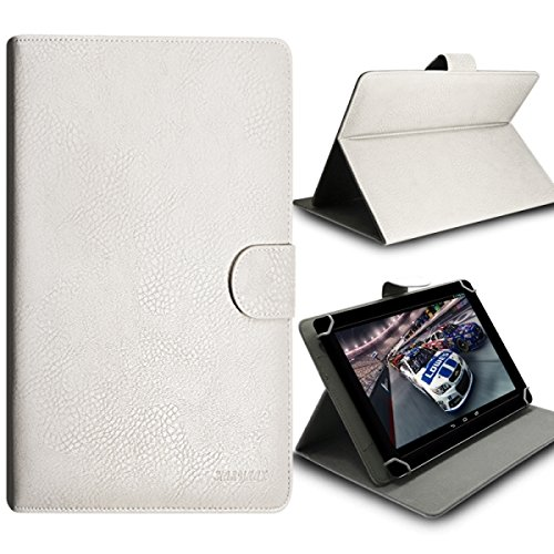 Seluxion - Funda tipo libro universal para tablet Nvidia Shield K1, color blanco