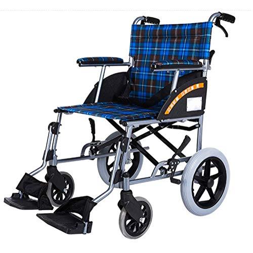 Y-L gehandicapten Ouderen Lichtgewicht Vouwen Rolstoel Rijden Medische, Rolstoel Draagbare Aluminium Trolley Gratis Opblaasbare Opvouwbare Kleine Wiel Oude Scooter
