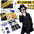 Spy Kit for Kids Detective Outfit Fingerprint Investigation Role Play Dress Up Educational Science STEM Toys Costume Secret Agent Finger Print Identification Set Boys Girls Age 6+ Birthday Gifts by UNGLINGA