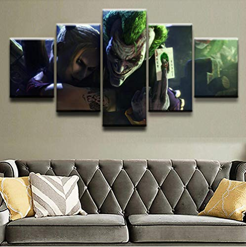 Apurpler HD canvas muurkunst Amerikaanse film karakter thema lelijke man poster/modulair 5 / canvasdruk [20x35cmx2 20x45cmx2 20x55cmx1]Rahmen Frame