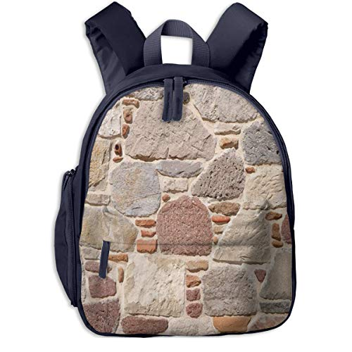 Kinderrucksack Blockstein Babyrucksack Süßer Schultasche für Kinder 2-5 Jahre