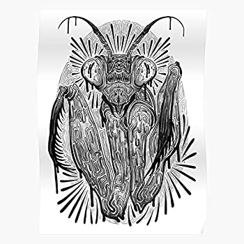 Insect Tattoo Mantis Punk Bug Praying - Prints Wall Design for Living Room Home Decor Customize - No Frame