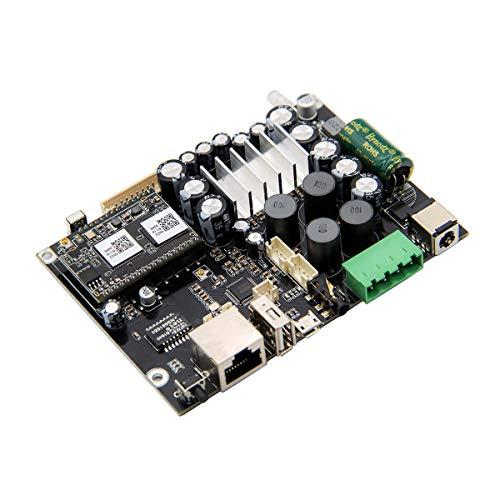 WiFi&Bluetooth 5.0 Home Audio Amplifier with 50+50W 21V DC/2.0 Stereo Channel, Multiroom/multizone Streaming subwoofer Amplifier Board,WiFi Speaker Board for DIY Speaker board-Up2stream Amp V3