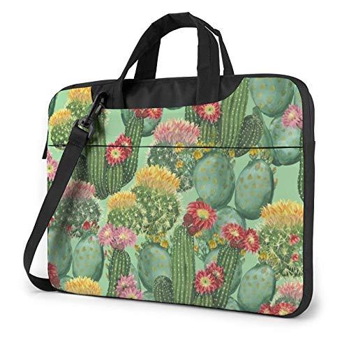 Funda para portátil, diseño de bandera de España, Cactus Floral Bloom (Morado) - 259841