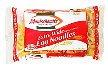 MANISCHEWITZ Extra Wide Egg Noodles 12-Ounce Bags  Pack of 12