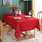 Christmas Tablecloth Rectangle, Jacquard Table Cloth Spillproof and Wrinkle Resistant with Christmas...