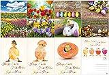 """Edition Colibri© - Set di cartoline a tema """"Primavera e Pasqua"""" (12 pezzi) - un mix colorato di divertenti cartoline pasquali, floreali e biglietti di auguri nostalgici per la Pasqua"""
