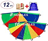 Play Parachute 12 Foot for Kids with Extra Strong Smudge Resistant-Handles Proper Selection