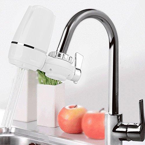 2 L/min Wasserfilter für Wasserhahn Küche Armatur Wasserhahn Wasserfilter Wasserfilter Wasser-Filtersystem für Leitungswasser, 14 * 11 * 5 cm
