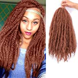3 Packs Afro Kinky Marley Braids Hair Extensions Twist Crochet Braids Kanekalon Synthetic Hair 18 Inch (30#)