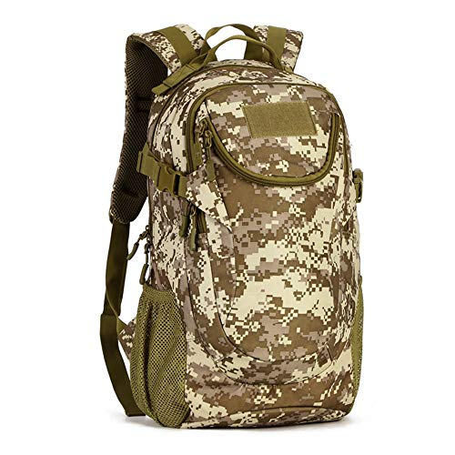 Roquorl Impermeable 25L Molle Tactical Bag Hombres Mochila Militar Nylon Montañismo Bolsa Pesca Senderismo Caza Mochila 14 pulgadas Portátil