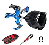 Archery MastersZ MX2 Bow Release KIT Comfortable and Adjustable Compound Bow Release - Archery Release for Hunting, Outdoor and 3D - for Adults and Kids - 3 & 4 Fingers Adjustable (Blue)