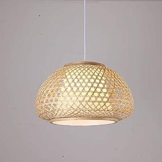 OSALADI Suspension en bambou avec ampoule
