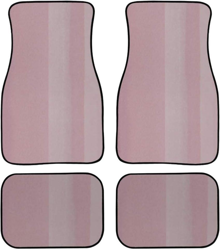 MOVTBA 4 Pieces Limited time trial price Car Carpet Floor Geometric Retro Pink Stripe Art Award
