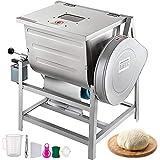 VEVOR 110V Commercial Dough Mixer 15kg, Kneading Capacity 30 QT, Flour Mixer...