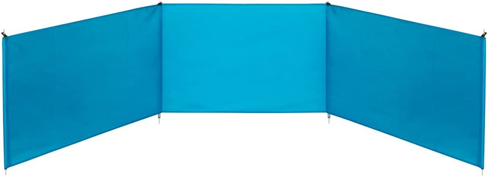 Aktive 53441 Paravientos de playa plegable, Azul, 300 x 75 cm