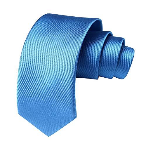 HISDERN Panuelo de corbata color sólido para hombre Conjunto clasico de corbata y bolsillo para boda