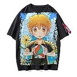 ZOSUO Unisexo Camiseta Haikyuu!! Karasuno Koukou Estampada Verano Corta Blusa T-Shirt Cuello Redondo Jersey Informal Suelto Verano Streetwear,B,L