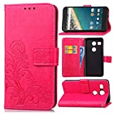 Guran® Housse en Cuir PU pour LG Nexus 5X Smartphone Flip Cover Portefeuille et Fonction Stent...