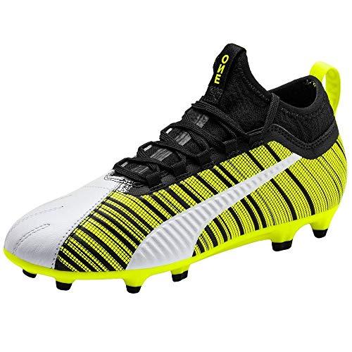 PUMA Kids Boys One 5.3 Fg Ag Soccer Cleats - White - Size 5...