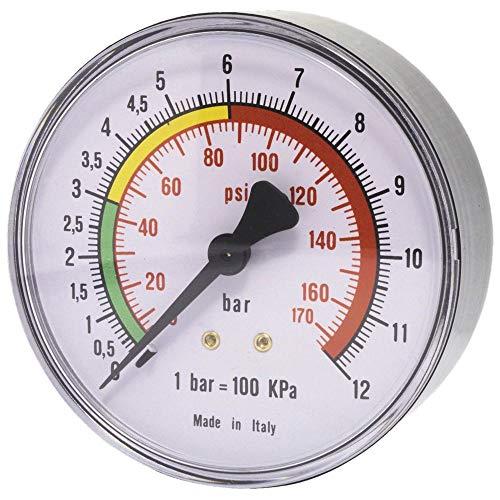 ELMAG 42225 Druckluft Manometer 63 mm 0-16 bar mit Außengewinde hinten 1/4