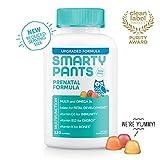 SmartyPants Prenatal Formula Daily Gummy Vitamins: Gluten Free, Multivitamin, Folate (Methylfolate), Omega 3 (Dha/Epa) Fish Oil, Methyl B12, vitamin D3 (30 Day Supply) - Packaging May Vary