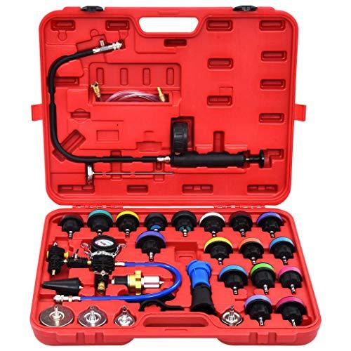 Festnight 28-TLG. Werkzeugsatz Druckprüfgerät für Kühlsystem amp Kühlerdeckel kühlmittel Werkzeug kfz