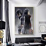 JHGJHK Anime Chico Personaje Pintura al óleo decoración del hogar Dormitorio sofá decoración Pintura Anime Ventilador decoración de la habitación Pintura 1