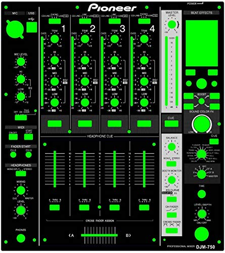 DJM750 DJM-750 Mixing Table Panel DJ Film Protector Black PVC Material