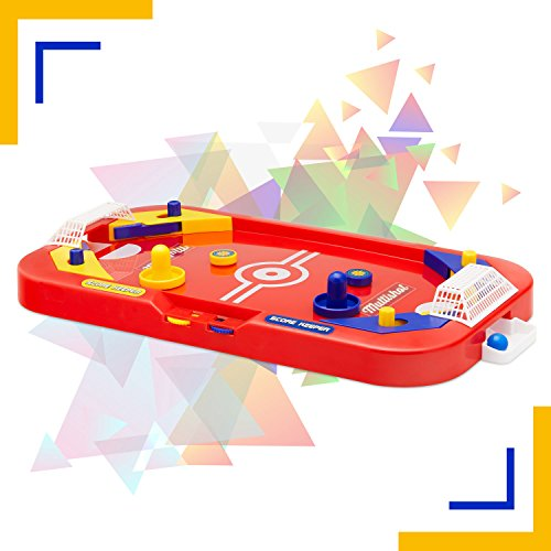 Two Player Desktop Soccer Hockey Game - 2 in 1 Soccer and Knock Hockey Mini Table Top Game - Cool Classic Penny Arcade Games Table Top Shooting Fun Toy For Kids Boys Girls Adults Teens Sports Fans
