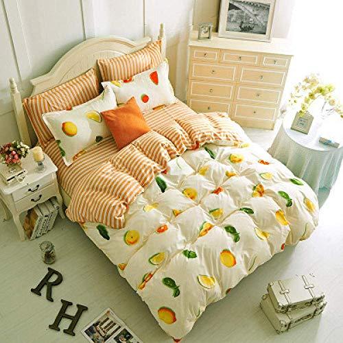 Fulinmen 3D Images Duvet Cover Set 4 Pieces,Fresh Fruit 3D Printed Bedding Set Of Four-M2.0m