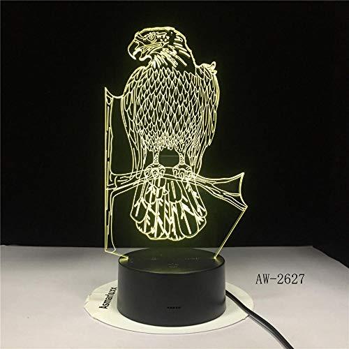 Polnischer Adler Falke Polnisches Wappen Polska 3D Optische Täuschung USB-Licht,Home Decor LED Neuheit Schreibtisch Nachtlampe