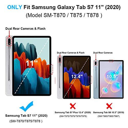 KATUMO Hülle für Samsung Galaxy Tab S7 2020 Schutzhülle Slim Hülle mit Standfunktion Auto Wakeup für Tablet S7 11 Zoll SM-T870/T875 Leather Case Protective