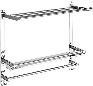 タオルレールウォールを備えたバスルームのコーナーの棚には、ねじアクセサリーと折り畳み式のSUS 304ステンレス鋼のシャワーオーガナイザーをマウント HuiZwj-0801 (Size : 50cm)