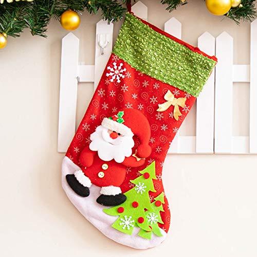 ECXJWLUH Weihnachtsschmuck Weihnachtsstrümpfe 45Cm Große Geschenktüten Geschenktüten Weihnachtsstrümpfe Socken E