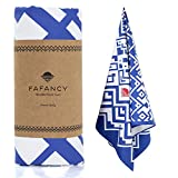 FAFANCY Microfiber Beach Towel - Soft Oversized Quick Dry Sand-Free Geometric Towels for Kids and Adults - Lightweight Thin Shower Cloth for Bathroom, Swimming Pool, Outdoor - Extra Large 63x35in