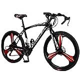 High Carbon Steel Road Bike for Men Women,700C Wheels Road Bike 21...
