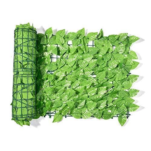 Künstliche Pflanzensicherung, künstliche Pflanze Hecke mit mit Blumen Privatsphäre Zaun Bildschirm UV Geschützt für den Gartengarten im Freien, künstliche Pflanze Hecke