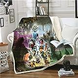 YiXing Manta de felpa con impresión 3D de Star Wars para adultos y niños, manta de forro polar, decoración del hogar, oficina, lavable (color: 2, tamaño: 2 capas, 130 x 150 cm)
