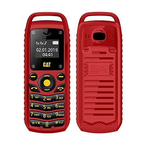 Super Mini 0.66 Inch 2G Mobile Phone B25 Wireless BT Earphone Hand Free Headset Unlocked Cellphone Dual SIM Card - Red