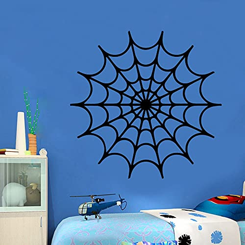 Rgzqrq Tela de araña Pegatinas de Pared Pegatinas de Pared calcomanías de Arte para el hogar murales Pegatinas extraíbles decoración Mural 57x55 cm