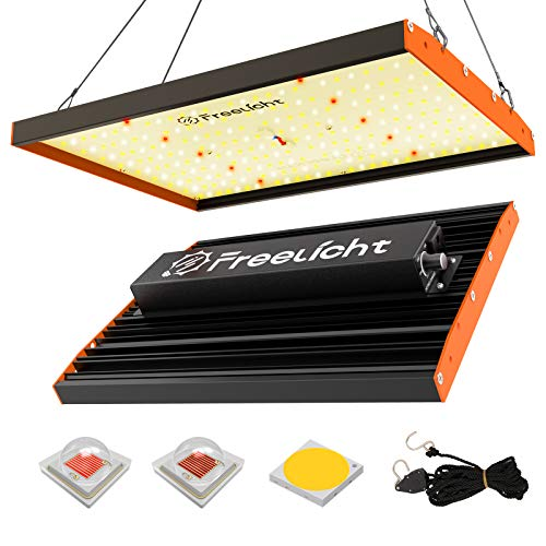 FREELICHT FL-1000 LED Grow Light with CREE&OSRAM LED Chips, UL Driver, Full Spectrum Dimmable Growing Lamp for All Stage, Suitable for 2x2ft Indoor Plant, Hydroponic, Greenhouse