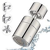 JINYOMFLY Aireador de Grifo Universal de 360 grados,Ajustable 2 Modos Grifo Filtro de Burbujas con Adaptadores de Boquilla,para Cocina y baño,M22 (Niquel Pulido)