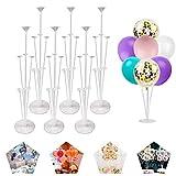 6PCS Ballonhalter Lang,Ballonstäbe mit Halterung,Ballonhalter Tisch,Luftballons Ständer für...