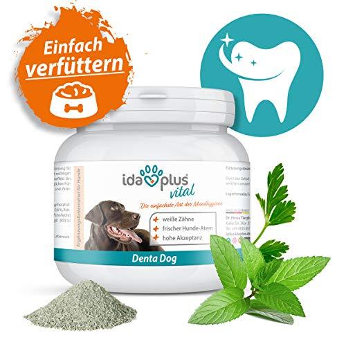 Ida Plus – Denta Dog Mundhygiene für Hunde – 100g – Hunde Zahnreiniger als Pulver – Hunde Zahnpflege - gegen Hunde Zahnstein & Hunde Mundgeruch – für frischem Hunde-Atem & weiße Zähne 1ner Set