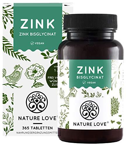 Zink 25mg - Vergleichssieger 2020* - 365 Tabletten (1 Jahr) - Hochdosiertes Zink-Bisglycinat (Zink Chelat) von Albion® - Hoch bioverfügbar, vegan, laborgeprüft, hergestellt in Deutschland